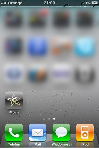 iMovie iPhone 3GS