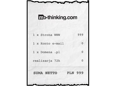 Strona WWW za 999PLN netto