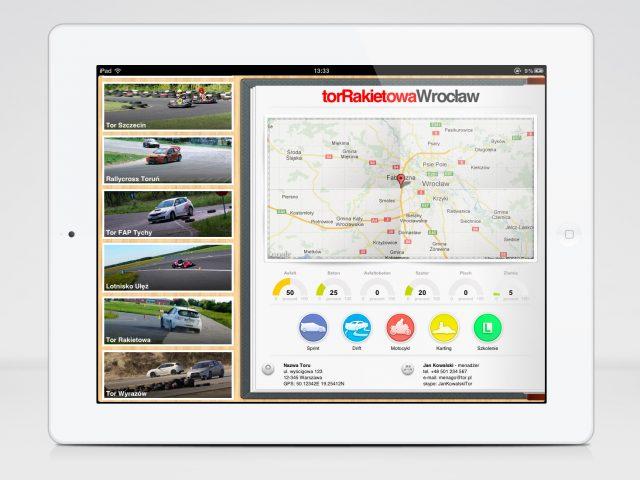 UI raceDaysPL na iPada