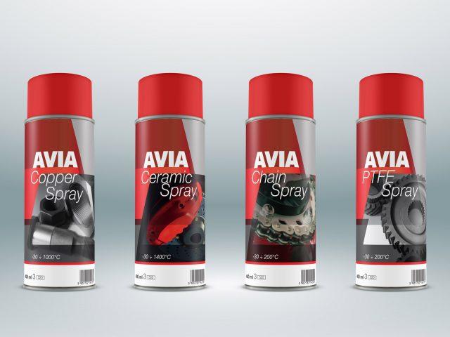 Etykiety sprayów dla Avia